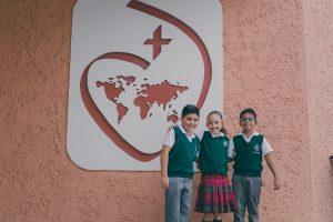 Niños de primaria del Sagrado Corazón